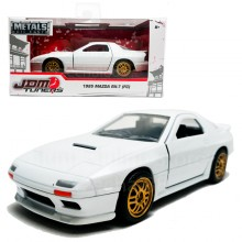 Jada 1:32 JDM Tuners Die-Cast 1985 Mazda RX-7 (FC) Car White Model Collection
