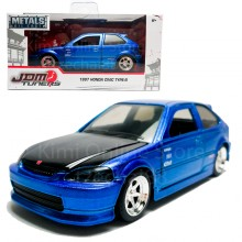 Jada 1:32 JDM Tuners Die-Cast 1997 Honda Civic Type-R Car Blue Model Collection