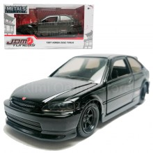 Jada 1:32 JDM Tuners Die-Cast 1997 Honda Civic Type-R Car Black Model Collection