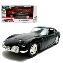 Jada 1:32 JDM Tuners Die-Cast 1967 Toyota 2000GT Car Black Model Collection