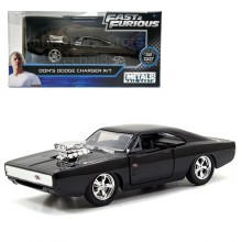 Jada Fast & Furious 1:32 Diecast Dom's Dodge Charger R/T Car Black Model Collection