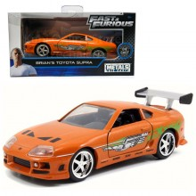 Jada Fast & Furious 1:32 Diecast Brian's Toyota Supra Car Orange Model Collection