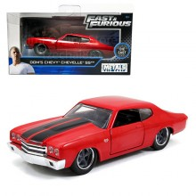 Jada Fast & Furious 1:32 Diecast Dom's Chevy Chevelle SS Car Red Model Collection