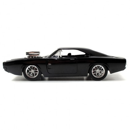 Jada 1:24 Fast & Furious Die-Cast Dom's Dodge Charger R/T Car Black Model Collection