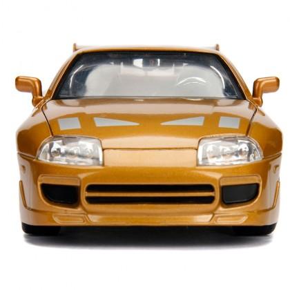 Jada 1:24 Fast & Furious Die-Cast Slap Jack's Toyota Supra Car Gold Model Collection