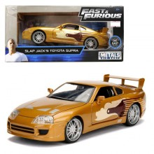 Jada 1:24 Fast & Furious Die-Cast Slap Jack's Toyota Supra Car Gold Model Collection