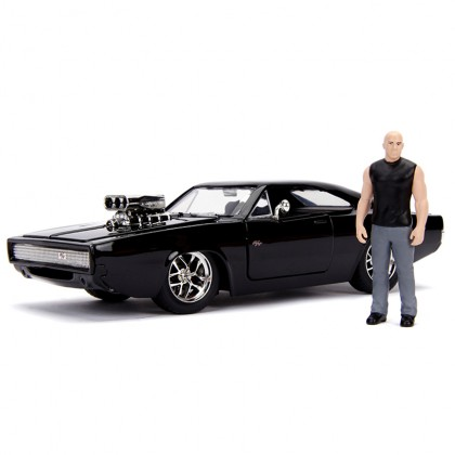 Jada 1:24 Fast & Furious Die-Cast Dom & Dodge Charger R/T Car Black Model Collection