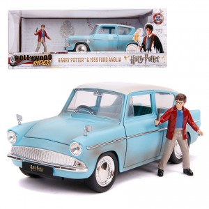 Jada 1:24 Die-Cast Harry Potter & 1959 Ford Anglia Car Blue Model Collection