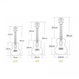21'/23'/26' Ukulele Bag High Quality Cotton Padded Soft Shoulder Carry Case Straps Musical Instruments