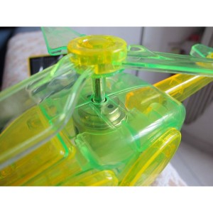 Cute Sunlight Solar Helicopter Toy Environmental Protection Energy Savins Kit