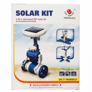 Cute Sunlight 6 in 1 Eductional DIY Solar Toy Environmental Protection Energy Savins Kit