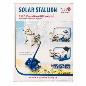 Cute Sunlight 3 in 1 Eductional DIY Solar Stallion Toy Environmental Protection Energy Savins Kit