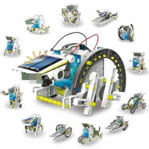 13 in 1 Eductional DIY Solar Robot Toy Environmental Protection Energy Savins Kit Enjoyable