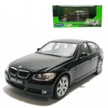 Welly 1:24 Die-cast BMW 330i Car Model Black with Box Collection Christmas New Gift