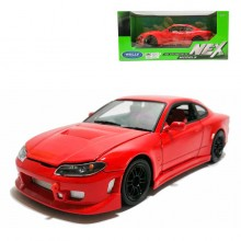 Welly 1:24 Die-cast Nissan Silvia (S15) Car Model Red with Box Collection Christmas New Gift