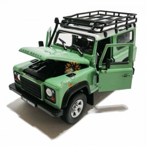Welly 1:24 Die-cast Land Rover Defender Car Model Green with Box Collection Christmas New Gift