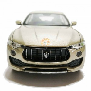 Welly 1:24 Die-cast Maserati Levante Car Model Gold with Box Collection Christmas New Gift