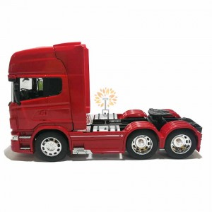 Welly 1:32 Die-cast Scania V8 R730 6 x 4 Wheel Tractor Truck Model Red with Box Collection Christmas New Gift