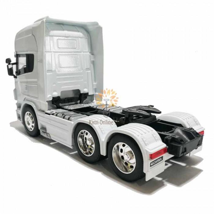 Welly 1:32 Die-cast Scania V8 R730 6 x 4 Wheel Tractor Truck Model White w Box