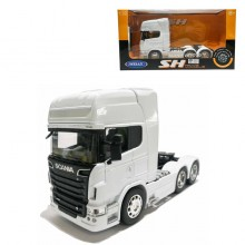 Welly 1:32 Die-cast Scania V8 R730 6 x 4 Wheel Tractor Truck Model White with Box Collection Christmas New Gift