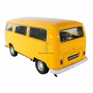 Welly 1:34-1:39 Die-cast 1972 Volkswagen T2 Bus Model with Box Collection Christmas New Gift