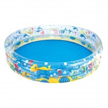 Bestway 51004 1.52m x 30cm Inflatable Deep Dive 3-Ring Pool 1.22m x 25cm Safety Valves Kids New