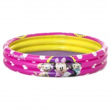 Bestway 91079 1.22m x 25cm 3 Ring Ball Pit Play Pool Minnie Mouse Pink Safety Valves Kids New