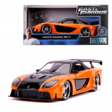 Jada 1:24 Fast & Furious Die-Cast Han's Mazda RX-7 Tokyo Drift Orange Model Collection