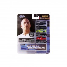 Jada Nano Hollywood Rides 1.65 inch Fast & Furious 3 Pack Die-cast Car Model Collection