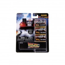 Jada Nano Hollywood Rides 1.65 inch Back To The Future 3 Pack Die-cast Car Model Collection