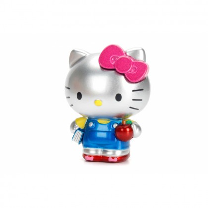 Dickie Toys Sanrio Hello Kitty 2.5 inch Die-cast Metal Action Figure Silver Model Collection