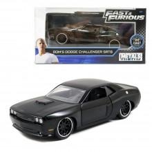 Jada Fast & Furious 1:32 Diecast Dom's 2012 Dodge Challenger SRT8 Car Black Model Collection