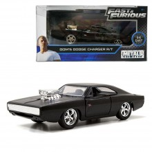 Jada Fast & Furious 1:32 Diecast Dom's Dodge Charger R/T Car Matte Black Model Collection