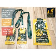 AIR DEFENCE - 50 DAYS PROTECTIVE BUBBLE WITHIN 1 METER RADIUS AGAINST VIRUS AND GERMS ( 2 Tags Per Pack, Complete With Lanyards & Clips ) Super Promotion!!!