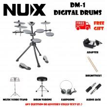 NUX DM-1 Portable Digital Electrical Drum Kit Silver Musical Instruments