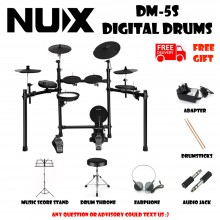 NUX DM-5S Portable Digital Electrical Drum Kit Black Musical Instruments