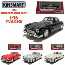 Kinsmart 1:36 Die-cast 1954 Mercedes-Benz 300SL Car Model with Box Collection Pull Back