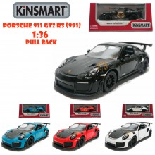 Kinsmart 1:36 Die-cast Porsche 911 GT2 RS (991) Car Model with Box Collection Pull Back