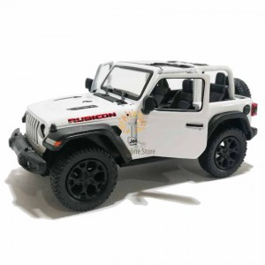 Kinsmart 1:34 Die-cast 2018 Jeep Wrangler Rubicon (Open Top) Car Model with Box Collection Pull Back