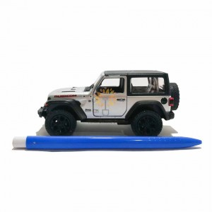 Kinsmart 1:34 Die-cast 2018 Jeep Wrangler Rubicon (Hard Top) Car Model with Box Collection Pull Back