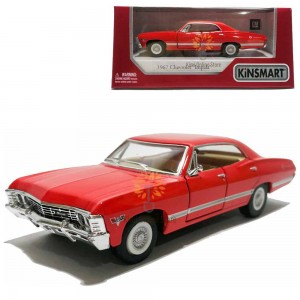 Kinsmart 1:43 Die-cast 1967 Chevrolet Impala Car Model with Box Collection Pull Back