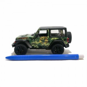 Kinsmart 1:34 Die-cast 2018 Jeep Wrangler Rubicon (Hard Top) Camo Edition Car Model with Box Collection Pull Back