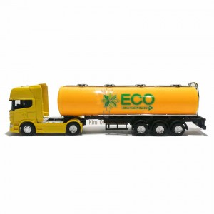 Welly 1:64 Die-cast Scania V8 R730 Eco Oil Tanker Truck Model with Box Collection Christmas New Gift Yellow