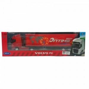 Welly 1:64 Die-cast Volvo FH Tractor Trailer Container Truck Model with Box Collection Christmas New Gift Red