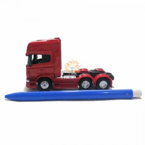 Welly 1:64 Die-cast Scania V8 R730 6x4 Truck Model with Box Collection Christmas New Gift Red