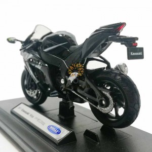 Welly 1:18 Die-cast 2017 Kawasaki Ninja ZX10RR Motorcycle Model with Box Collection Christmas New Gift Black