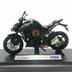 Welly 1:18 Die-cast 2017 Kawasaki Z1000 R Edition Motorcycle Model with Box Collection Christmas New Gift Black