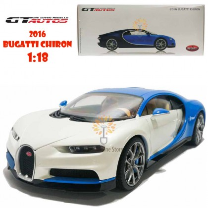 GT Autos 1:18 Die-cast 2016 Bugatti Chiron Car Model with Box Collection Christmas New Gift White