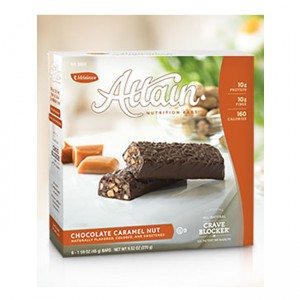 Attain Bar Chocolate Caramel Nut (6 bars) Support Healthy Weight Loss