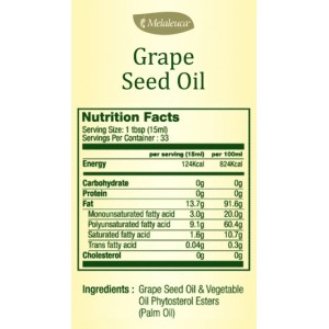 Grape Seed Oil (1 Bottle) Healthier Cooking Oil